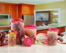 Polyset Twisty Foils S/14 - 1475 ml, 225 ml, 1050 ml, 295 ml, 175 ml, 540 ml Plastic Food Storage  (Pack of 14, Pink)