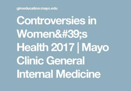 Controversies in Women's Health 2017