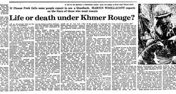 The Khmer Rouge and Cambodian genocide: how the Guardian covered it